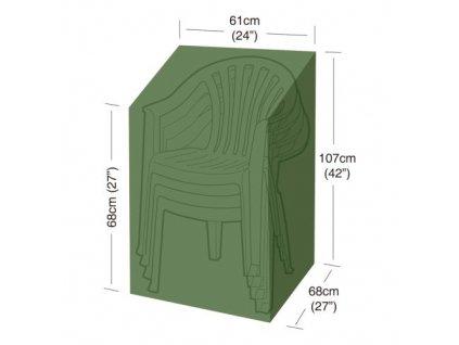 plachta krycí na 4 zahradní židle 61 x 68 x 107 cm, PE 90g/m2