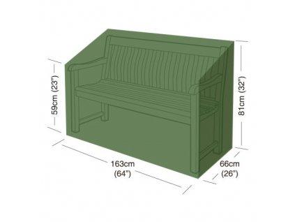 plachta krycí na zahradní lavičku 163 x 66 x 81 cm, PE 90g/m2