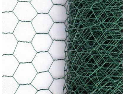 Králičí pletivo - zelené (PVC), oko 13 mm, výška 50 cm, role 10 m