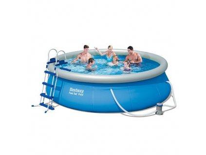 Bazén Bestway FAST SET 57282 4,57 x 0,91 m + filtr a žebřík
