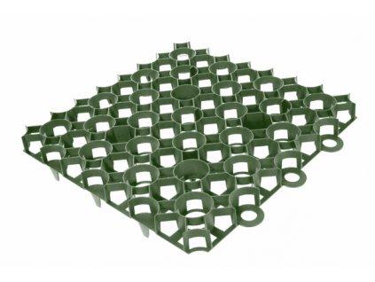 Zatravňovací venkovní dlažba - tvárnice 50 x 50 cm zelená