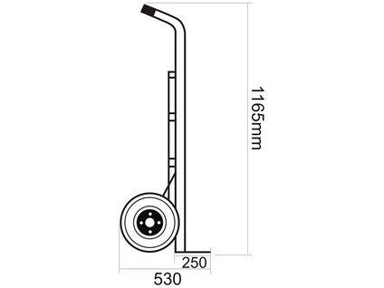 PROTECO rudl s plnými koly - nosnost 200 kg