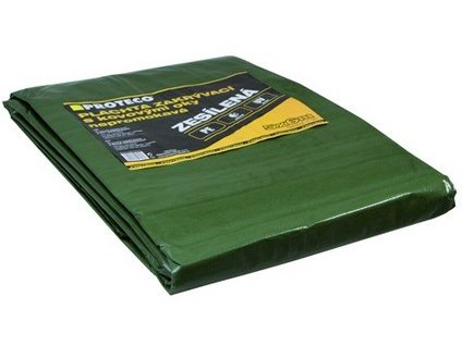 Plachta PROTECO 2 x 3 m s oky zelená 100g/m2