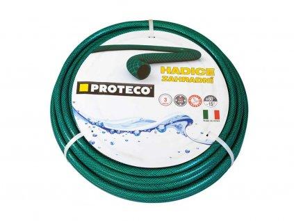 """Zahradní hadice PROTECO 1/2"""",  15 m, zelená"""