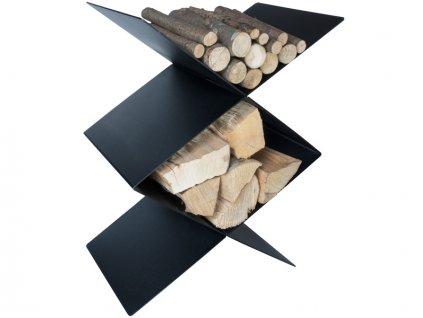 CafDesign Zásobník na dřevo stupňovitý