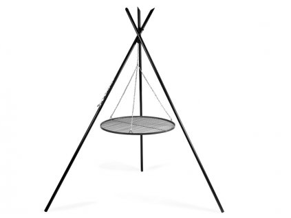 CookKing Trojnožka TIPI 200 cm s roštem černý ocel 80 cm