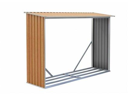 Přístřešek na dřevo  G21 WOH181 - 242 x 75 cm, hnědý