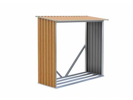 Přístřešek na dřevo  G21 WOH136 - 182 x 75 cm, hnědý