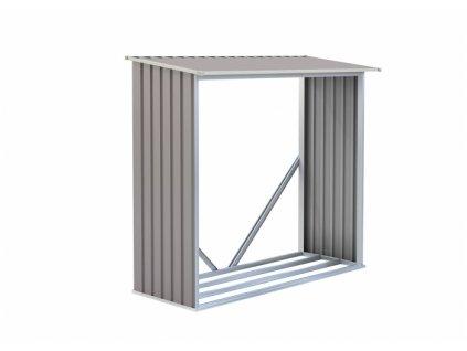 Přístřešek na dřevo  G21 WOH136 - 182 x 75 cm, šedý