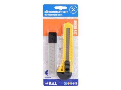 Odlamovací nůž + list odlamovací 18mm (10ks)