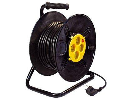 Prodlužovací kabel na bubnu, 40 m, 3 x 1,5 mm, 4 zásuvky