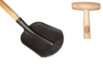 Lopata DeWit zaoblená s nášlapem