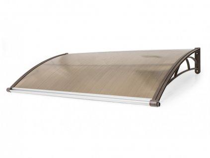 Vchodová stříška Valtellina 120 x 82 cm hnědá / bronz