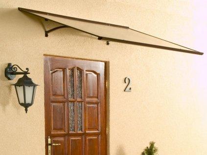 Vchodová stříška Standard 120 x 85 cm hnědá / čirá