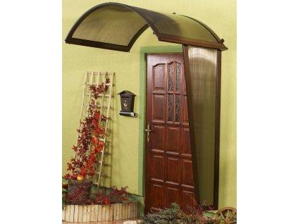 Vchodová stříška Rondo (boční stěna) 130 x 53 cm hnědá