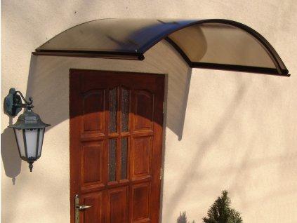 Vchodová stříška Rondo N 160 x 70 cm hnědá / bronz