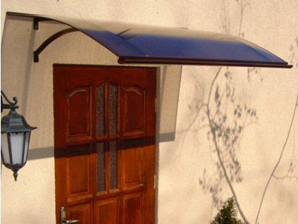 Vchodová stříška Swing PC 160 x 87 cm hnědá / bronz