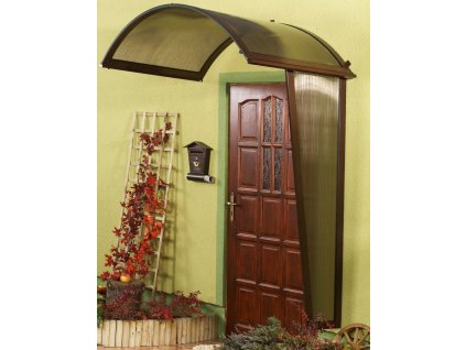 Vchodová stříška Rondo (boční stěna) 180 x 53 cm hnědá