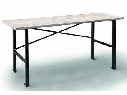 Pracovní stůl s dřevěnou pracovní deskou 1650x600x850 mm - AL0025 | AHProfi