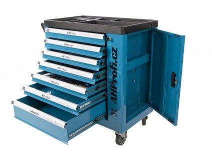 Dílenský vozík s nářadím AHPROFI, 6 zásuvek, 272 dílů
