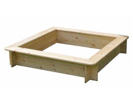 Dřevěné pískoviště T-WOOD, čtyřhranné 120 x 120 x 26 cm
