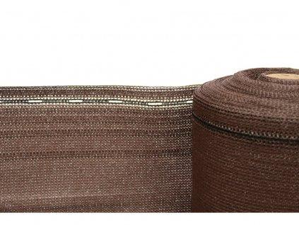 Stínící tkanina, zastínění 90%, výška 120 cm, hnědá