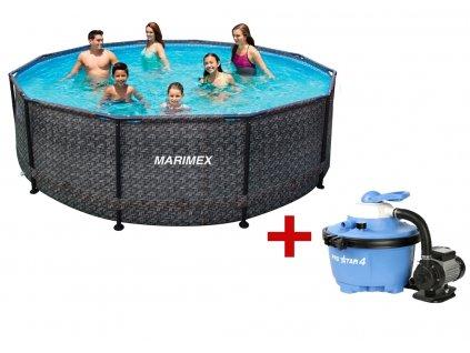 Bazén FLORIDA 3,66 x 0,99 m + písková filtrace, ratan