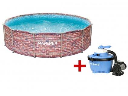 Bazén FLORIDA 3,66 x 0,99 m. s pískovou filtrací, cihla