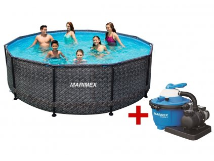 Bazén FLORIDA 3,66 x 1,22 m s filtrací, ratan
