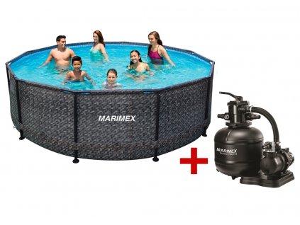 Bazén FLORIDA 4,57 x 1,32 m s filtrací, ratan