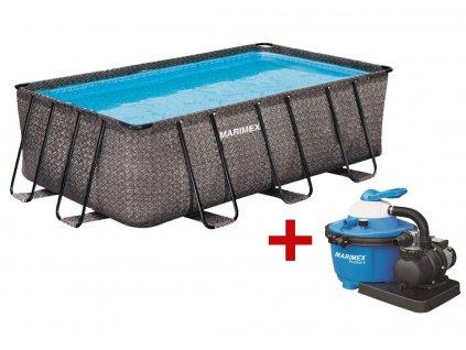 Bazén FLORIDA Premium 2,15 x 4,00 x 1,22 m s pískovou filtrací, ratan