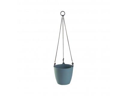 Závěsný květináč ARIELLA 21 cm, modrošedá