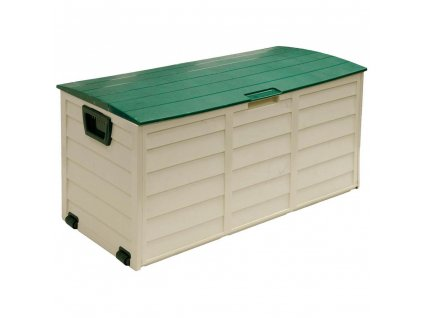 designovy plastovy zahradni box s kolecky fieldmann fdd 1002g