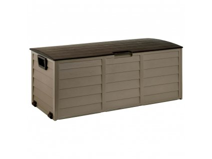 designovy plastovy zahradni box s kolecky fieldmann fdd 1002b
