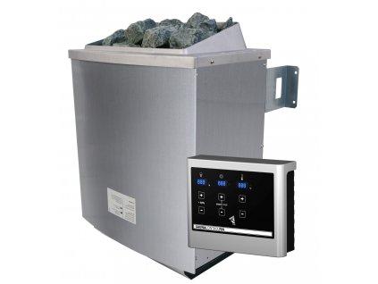 Saunová kamna KARIBU 9 kW externí digitální ovladač