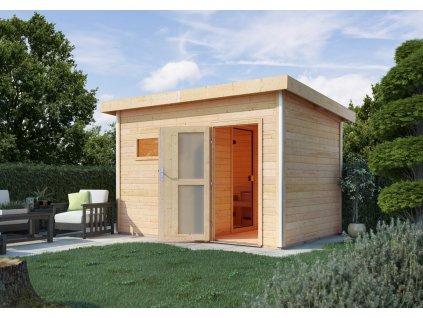 Finská sauna KARIBU SKROLLAN 1 s předsíní