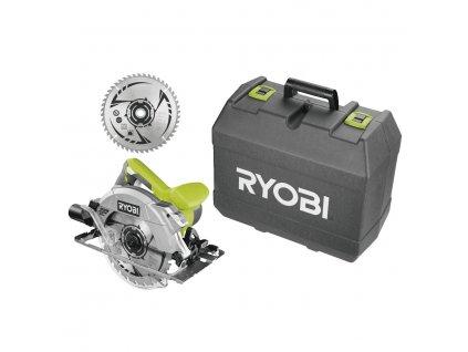 Okružní pila s laserem RYOBI RCS1600-K2B + pouzdro + kotouč