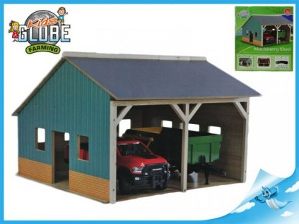 Dřevěná garáž pro traktory 1:16