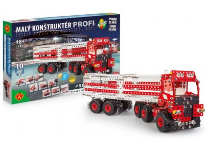 Malý konstruktér Profi premium truck 10v1 Skříňový návěs