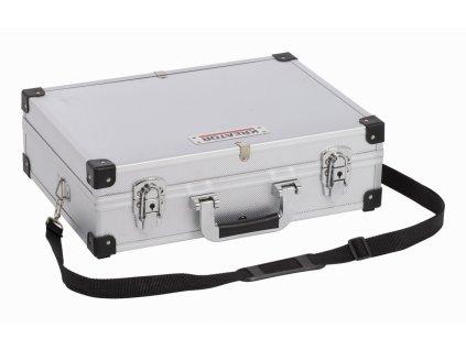 Hliníkový kufr KREATOR 420x300x125mm stříbrný