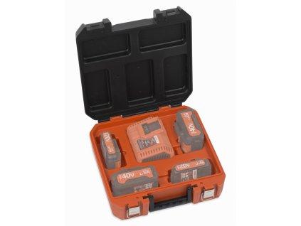 Kufřík na baterie a nabíječku DUAL POWER