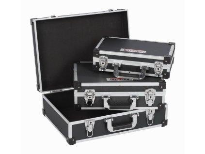 Hliníkový kufr KREATOR 3 IN 1 černý