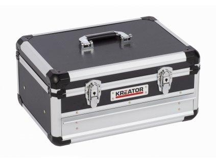 Hliníkový kufr KREATOR 430x300x205mm 1 zásuvka
