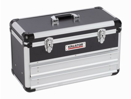 Hliníkový kufr KREATOR 523x240x305mm 2 zásuvky