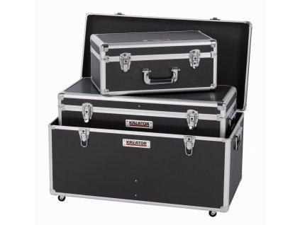 Hliníkový kufr KREATOR 3 IN 1 XL černý