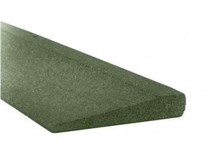 Gumový obrubník GUTTA nájezdový 100 x 25 cm, zelená