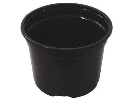 Květináč lehčený 12 cm, černá