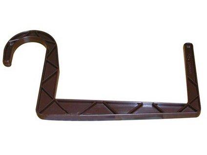 Držák truhlíků kulatý závěs 11 x 12 cm, hnědá