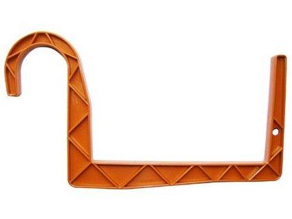 Držák truhlíků kulatý závěs 11 x 12 cm, terakota