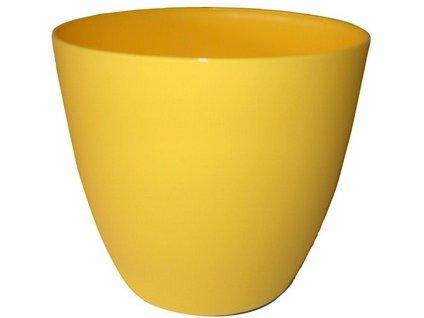 Obal květináče ELLA 11 cm, žlutá matná